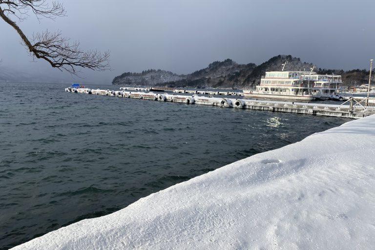 青森県/秋田県十和田湖畔にて対応